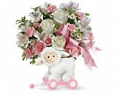 Teleflora's Sweet Little Lamb - Baby Pink in Houston TX, Azar Florist