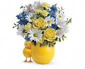 Teleflora's Sweet Peep Bouquet - Baby Blue in Highlands Ranch CO, TD Florist Designs