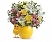 Teleflora's Sweet Peep Bouquet - Baby Pink in San Leandro CA, East Bay Flowers