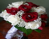 Red and White Roses in Corona, California, AAA Florist