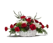 Unique Design's Holiday Basket Bouquet in Dayton OH, Unique Designs