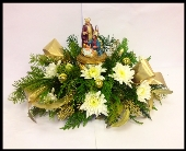 Nativity Centerpiece in Anchorage AK, Flowers By June