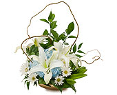 Lilies in Blue in Methuen MA, Martins Flowers & Gifts