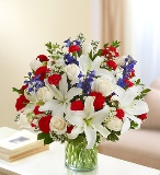Sincerest Sorrow-Red,White & Blue in Camp Hill and Harrisburg, Pennsylvania, Pealers Flowers