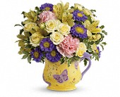 Teleflora's Sunbeams And Butterflies Bouquet in Highlands Ranch CO, TD Florist Designs