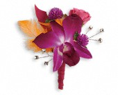Dance 'til Dawn Boutonniere in Lake Worth FL, Belle's Wonderland Orchids & Flowers