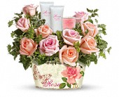 Teleflora's Rosy Delights Gift Bouquet in Canton NY, White's Flowers