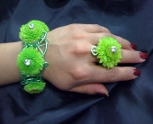 Green with envy corsage and ring in Pasadena MD, Maher's Florist