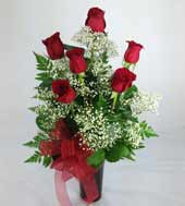 SIX PREMIUM RED ROSES by Rubrums in Ossining NY, Rubrums Florist Ltd.