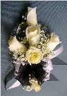 Black & White Corsage in Kennett Square PA, Barber's Florist Of Kennett Square