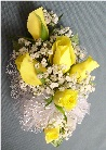 Yellow Rose Corsage in Kennett Square PA, Barber's Florist Of Kennett Square