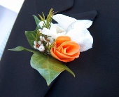 Rose & Orchid Boutonniere in Seattle WA, Topper's European Floral Design