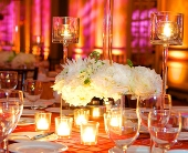 All White Centerpiece in Seattle WA, Topper's European Floral Design