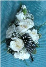 Black, White & Silver Corsage in Kennett Square PA, Barber's Florist Of Kennett Square