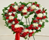 Red and White Standing Open Heart in Port Orange, Florida, Port Orange Florist