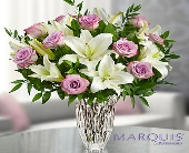 Marquis by Waterford� Purple Rose & Lily Bouquet in Highlands Ranch CO, TD Florist Designs