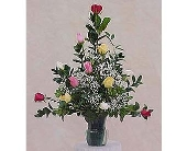 12 Roses Arranged - One Sided in Huntington WV, Spurlock's Flowers & Greenhouses, Inc.