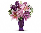 Teleflora's Blushing Violet Bouquet in Vancouver BC, Downtown Florist