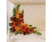 Island Sunset Casket Insert in Dresher PA, Primrose Extraordinary Flowers