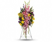 Rainbow Of Remembrance Spray in Albert Lea, Minnesota, Ben's Floral & Frame Designs