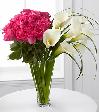 Irresistible Luxury Rose & Calla Lily Bouquet - 26 in Highlands Ranch CO, TD Florist Designs