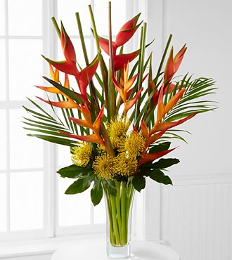 Striking Luxury Tropical Bouquet - 21 Stems - VASE in Highlands Ranch CO, TD Florist Designs