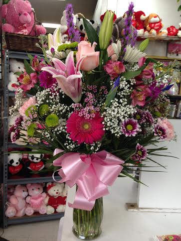 She's Feminine Vase Arrangement in Forest Hills NY, Danas Flower Shop