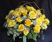 4 Dozen Yellow Roses in Hilton Head Island SC, Flowers by Sue, Inc.