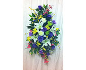 Purple Standing Spray in Timmins ON, Timmins Flower Shop Inc.