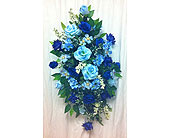 Blue Standing Spray in Timmins ON, Timmins Flower Shop Inc.