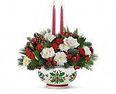 Teleflora's Holly Days Centerpiece in New Britain CT, Weber's Nursery & Florist, Inc.