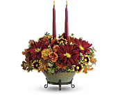 Teleflora's Tuscan Autumn Centerpiece in Greenwood IN, The Flower Market