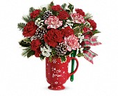 Teleflora's Warm Holiday Wishes Bouquet in Seattle WA, The Flower Lady