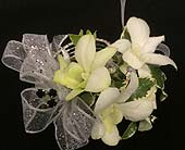 Mini Dendrobium Orchid Wrist Corsage in Belleville ON, Live, Love and Laugh Flowers, Antiques and Gifts