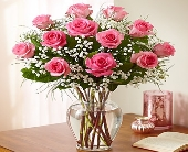 Rose Elegance� Premium Long Stem Pink Roses in Round Rock TX, Heart & Home Flowers