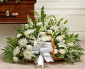 Thoughts and Prayers Fireside Basket - White in Round Rock TX, Heart & Home Flowers