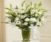 Beautiful Blessings White Vase Arrangement in Round Rock TX, Heart & Home Flowers