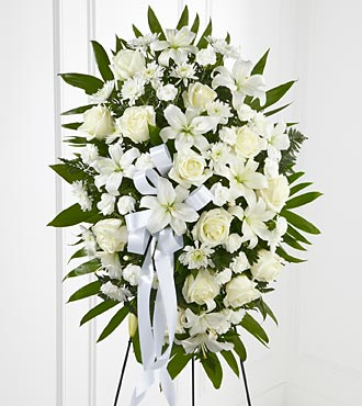 ALL WHITE SPRAY in Staten Island NY, Eltingville Florist Inc.