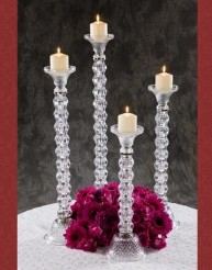 HIGH CRYSTAL CANDLE HOLDER in Staten Island NY, Eltingville Florist Inc.