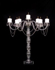 Crystal Candelabra with six arms. Seven pillar ca in Staten Island NY, Eltingville Florist Inc.