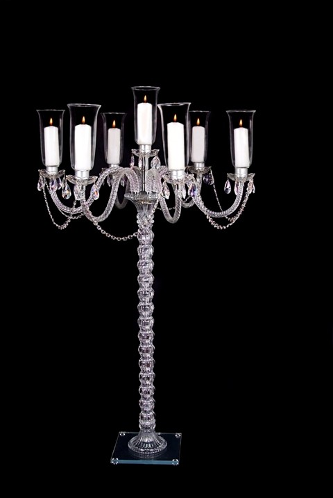 CANDEL ARM CRYSTAL CANDELABRA BASE 10