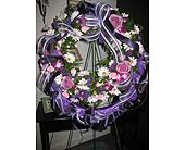Purple Wreath in Ocala, Florida, Heritage Flowers, Inc.