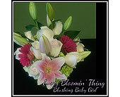 Blushing Baby Girl in Cary NC, Every Bloomin Thing Weddings & Events Inc