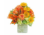 Textured Sunset Vase in Amherst, New York, The Trillium's Courtyard Florist