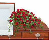 Simply Roses Deluxe Casket Spray in Methuen MA, Martins Flowers & Gifts