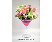 Drink Pink in Albuquerque NM, Silver Springs Floral & Gift