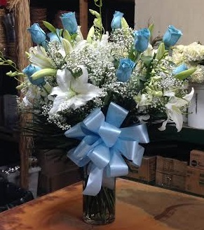 Dana's Esquitely Blue-tiful in Forest Hills NY, Danas Flower Shop