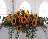 Sunflower Head Table Centerpiece in Latrobe, Pennsylvania, Floral Fountain