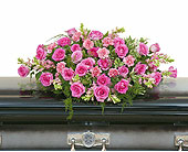 Peaceful Pink Casket Spray in Methuen MA, Martins Flowers & Gifts