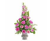 Peaceful Pink Small Urn in Bradenton FL, Florist of Lakewood Ranch